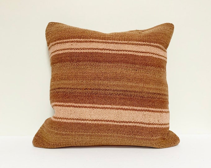 "Vintage Turkish Rug Pillow - Square  |  16"" x 16""  