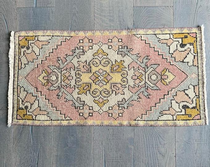 "Mini Vintage Turkish Rug No. 295 - 3'0"" x 1'6"""