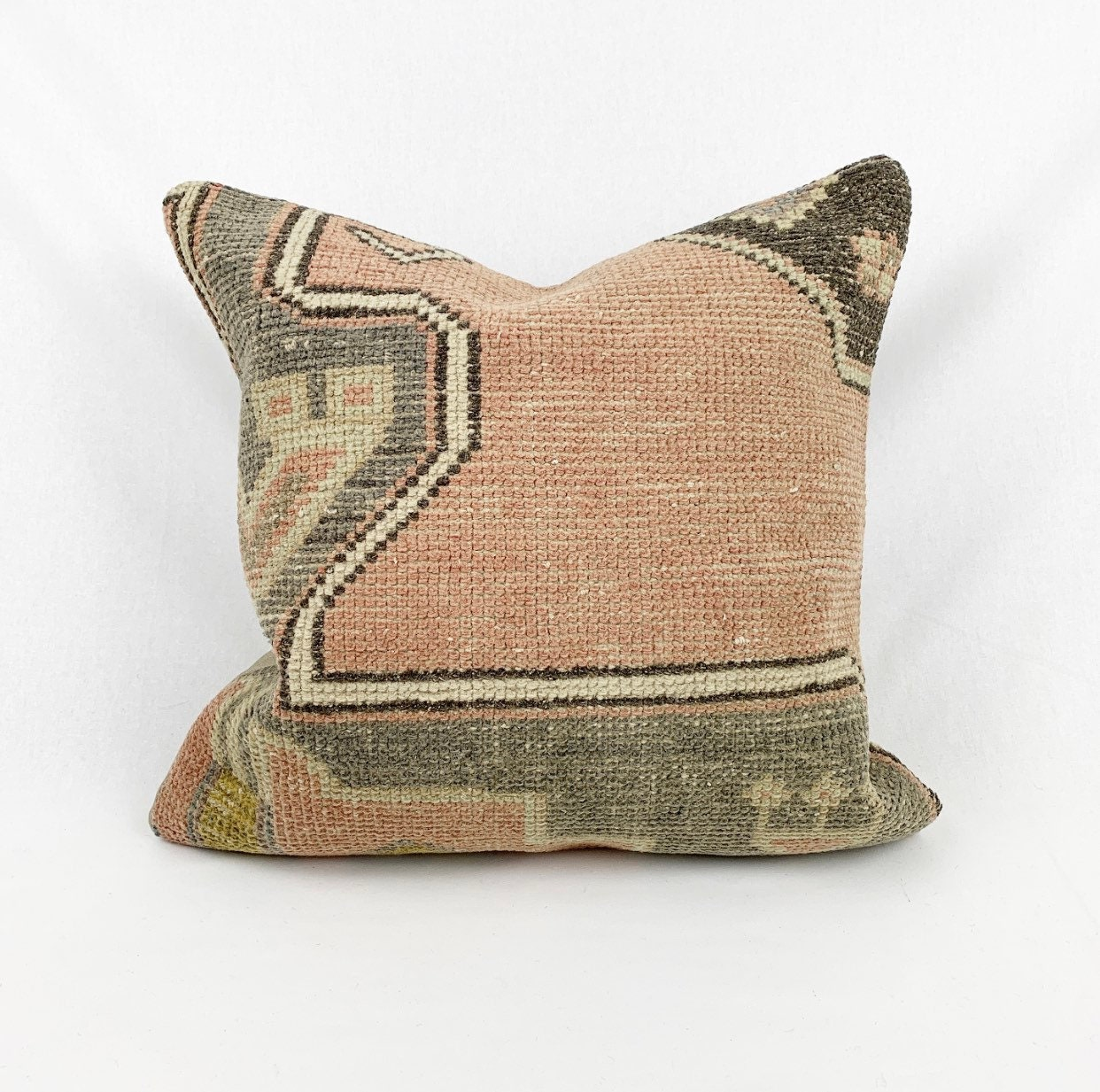 Vintage Rug Pillow Rug Pillow Cover,20/'/'x 20/'/'Inches Rug Pillow,Turkish Rug Pillow,Wool Pillow,50 x 50cm pillow,Decorative Pillow