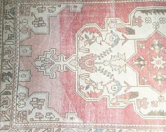7.7 x 4.1  - Vitnagw Turkish Oushak Rug  |  Faded Pink Rug