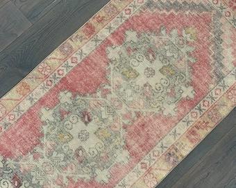 """Vintage Turkish Runner Rug - 9'8"""" x 2'11"""""""