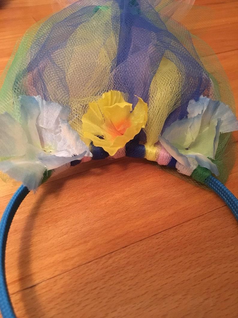 Trolls-inspired headband
