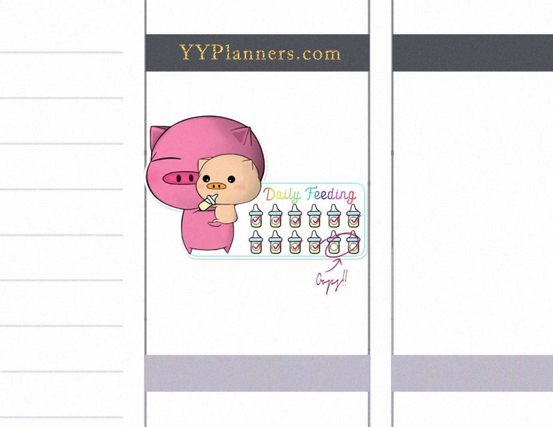 Printable Daily Feeding Tracker Stickers Daily Routine image 0