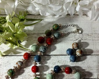 NEW Handmade Jewelry Set multi colore