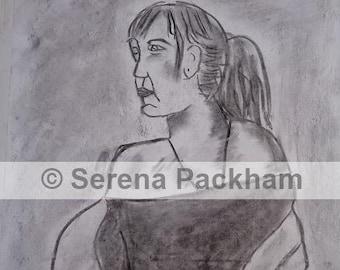 Charcoal Fine Art Digital Print
