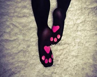 KITTEN PLAY LINGERIE - thigh-high black kitten play gear, ddlg, kitty, cosplay, anime, pet play lingerie, neko, pastel goth, alternative