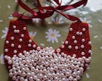 Felt necklace beads