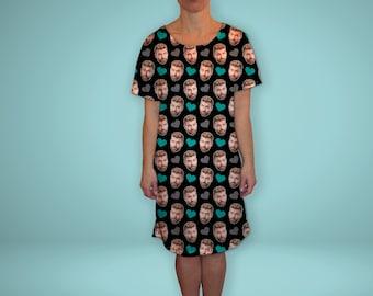 6552276cba Face Photo Pajama Dress