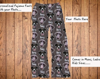 5b5facc89 Dog Face photo pajama pants