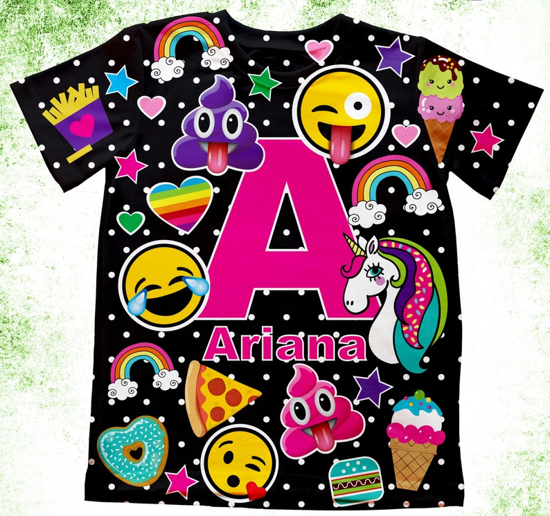 Personalized Emoji T Shirt Birthday With Or