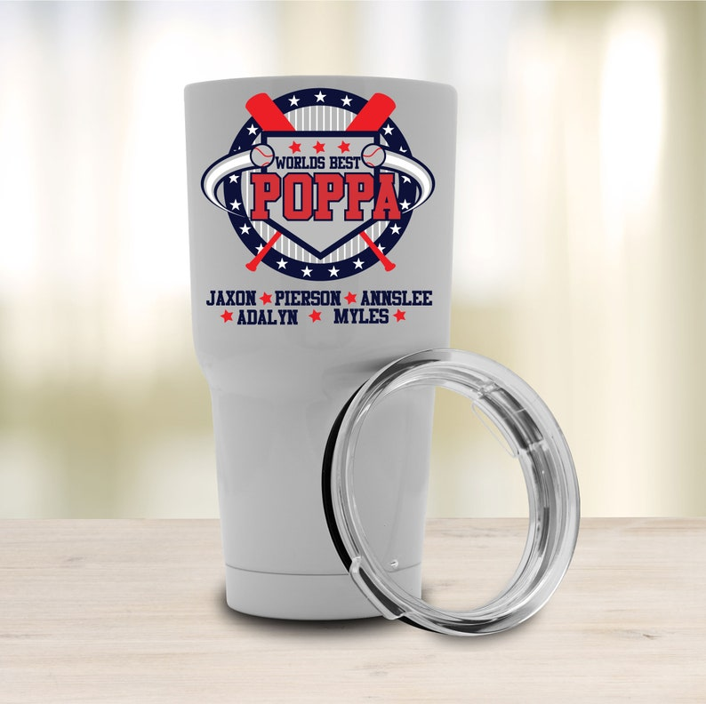 74139146db2 Personalized Baseball Theme Tumbler, 30 oz Tumbler, Travel Mug, Printed  Tumbler, Insulated Tumbler, Custom Tumbler Cup, Grandpa Or Dad Gift