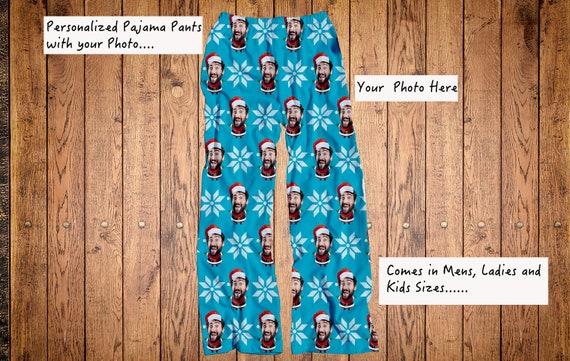 Christmas Pajama Pants.Santa Funny Face Pajama Pants Funny Christmas Pajama Pants Your Photo On Pajama Pants Photo Pj Pants Custom Photo Pajama Mens Pj Pants