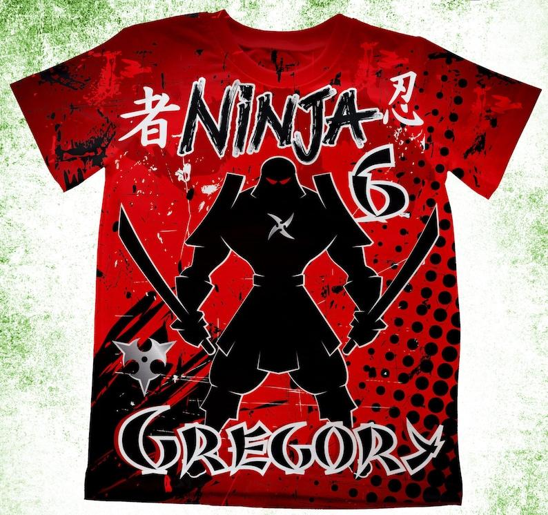 3f75f79e807b0 Personalized Ninja T-Shirt, Karate Theme Birthday Shirt, Birthday Party  Kids T-shirts, Theme Birthday Shirt, Ninja Birthday Theme, Ninja