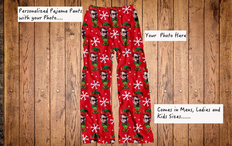 Funny elf pajama pants Ugly Christmas pajama pants Your  223beffe5