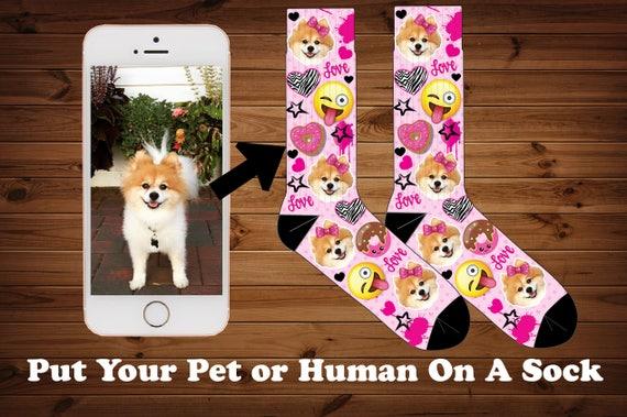 Super Emoji animaux Photo chaussettes animal de compagnie | Etsy @CU_23