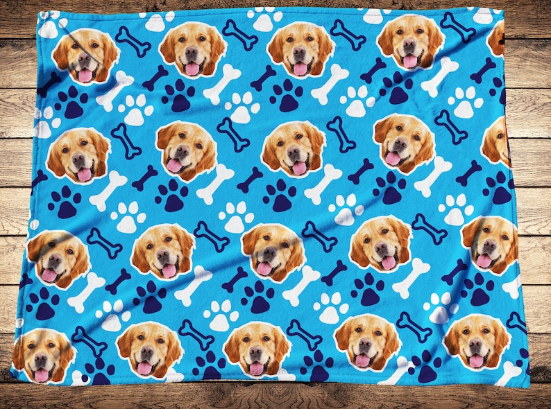4722929b0b Your Dog On A BlanketPersonalized Pet Photo BlanketCustom