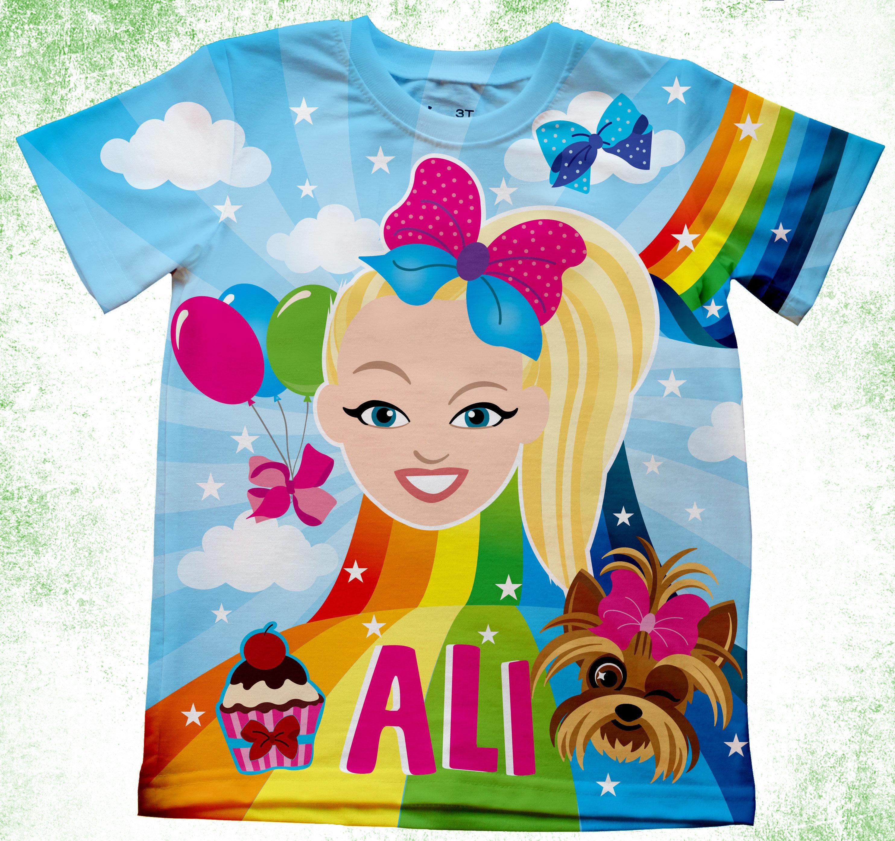 Personalize Jojo Siwa Birthday Shirt