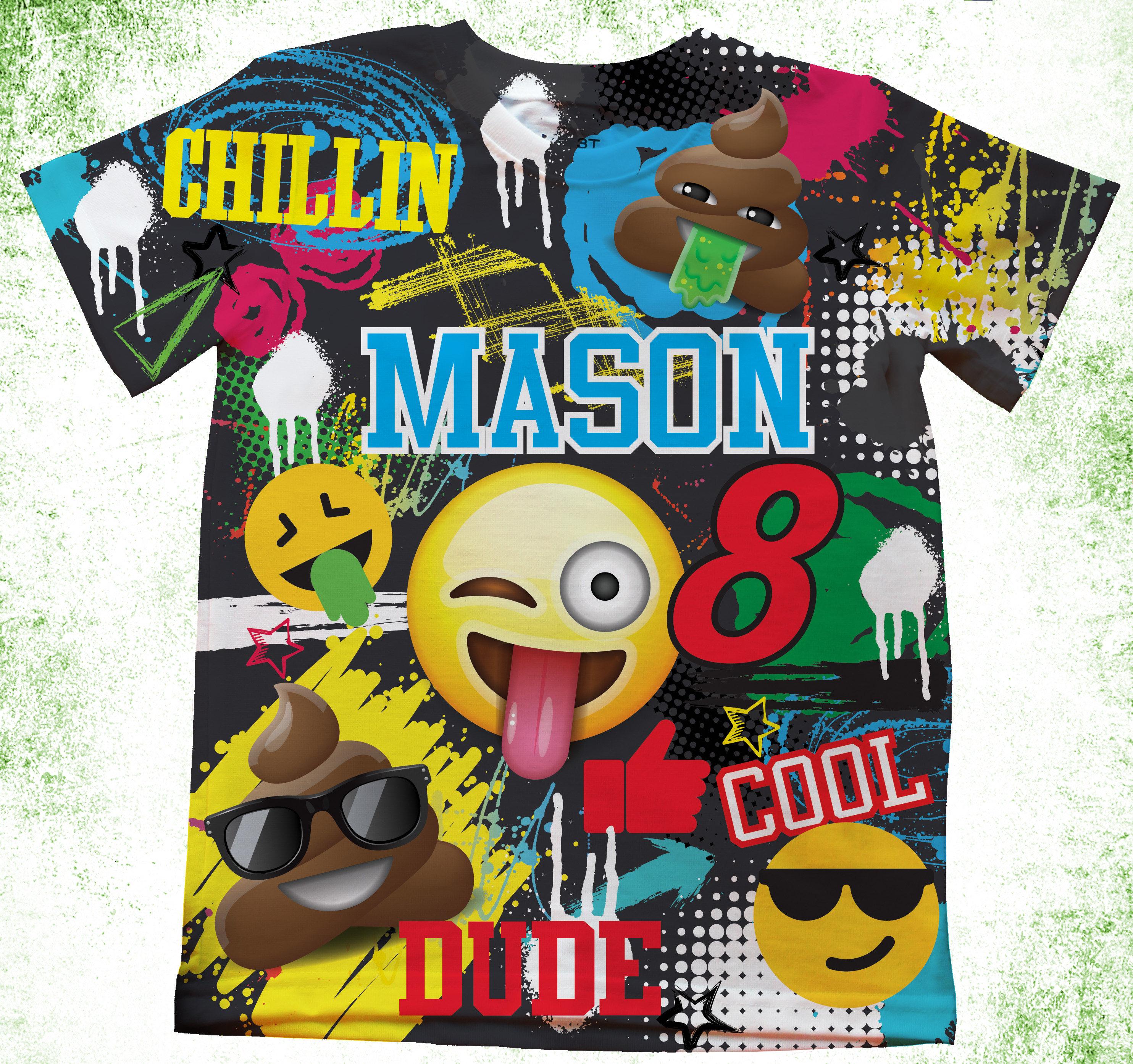 Personalized Emoji T Shirt Birthday Custom