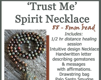 Intuitive Design 88 bead Spirit Necklace * Trust Me *