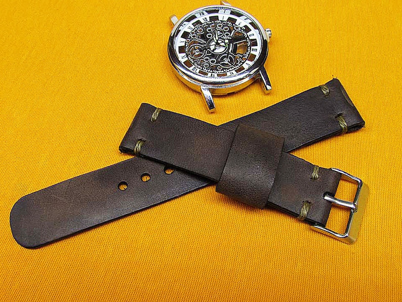 748a24a6a Handmade distressed leather Watch Strap 18mm 19mm 20mm   Etsy