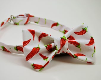 Bow tie hot peppers
