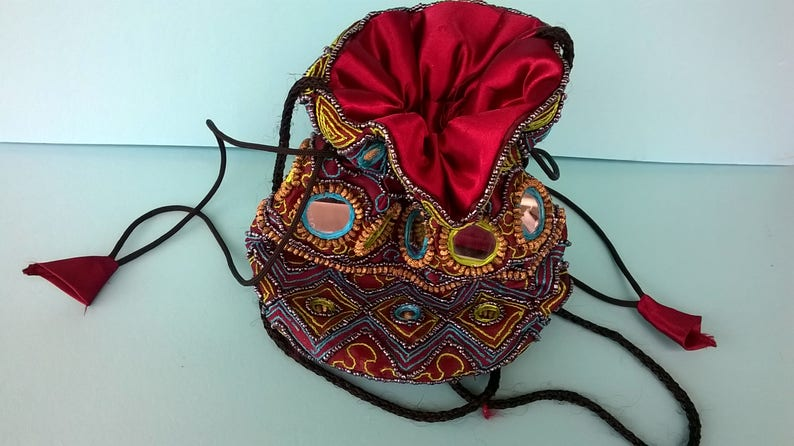 Vintage jewelry bag Burgundy colorTraveling Jewelry Pouch Jewelry Travel Bag ToteAqua Vintage Jewelry Bag Travel Tote Medium Size