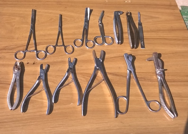 Vintage Surgical and Dental Instruments/Set of 13 surgical  instruments/Doctors Operating Instruments/Vintage Medical Tool/Medical  Supply