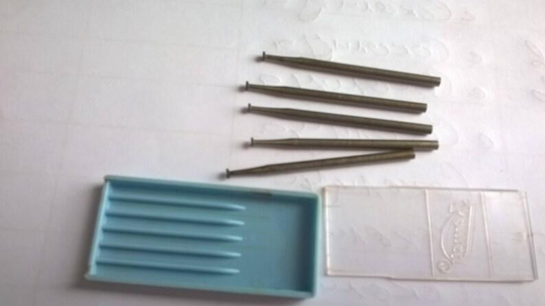 Dental Burs set of 5 /Vintage Dental instruments / Cabinet Dental  /Assortment Props Display/Old Dental Burs