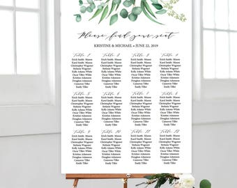 table plan template etsy