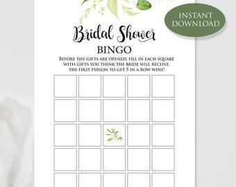 bridal shower bingo green bridal bingo bridal shower activities bridal bingo instant download bingo template bridal bingo printable
