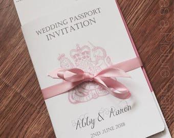 Sample Passport Wedding Invitation Vintage Travel Invite Etsy