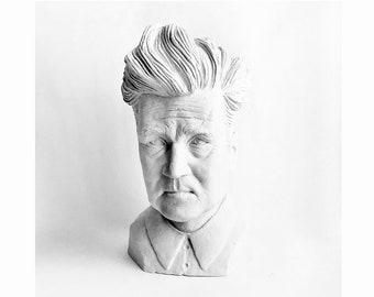 David Lynch small head bust sculpture Custom sculpture Gypsum figurine David Lynch bust David Lynch figurine modern bust Movie sculpture