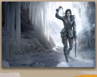 Rise of the Tomb Raider Ice Cave Art Poster A1, A2, A3, A4 Sizes Matte, Glossy Paper