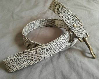 Dog leash - The Africanis Dog Leash - Brown and Beige Linen Dog Lead