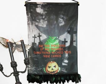Halloween Witch Wall Hanging, Halloween Decoration, Witch Decor, Halloween Home Decor, Basic Witch, Pumpkin Decor, Halloween Party, Spooky
