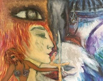 Original Painting By Anahita Modarresi : The Chariot