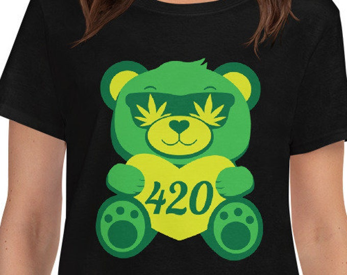 420 Teddy Bear - Women's weed t-shirt