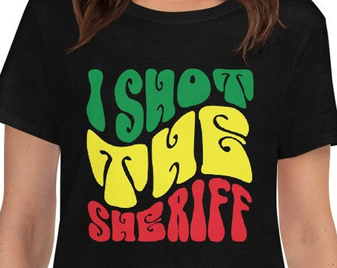 I Shot the Sheriff - rasta women's t-shirt