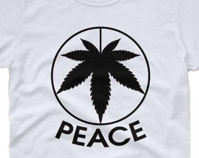 Peace 420 Leaf - women's t-shirt