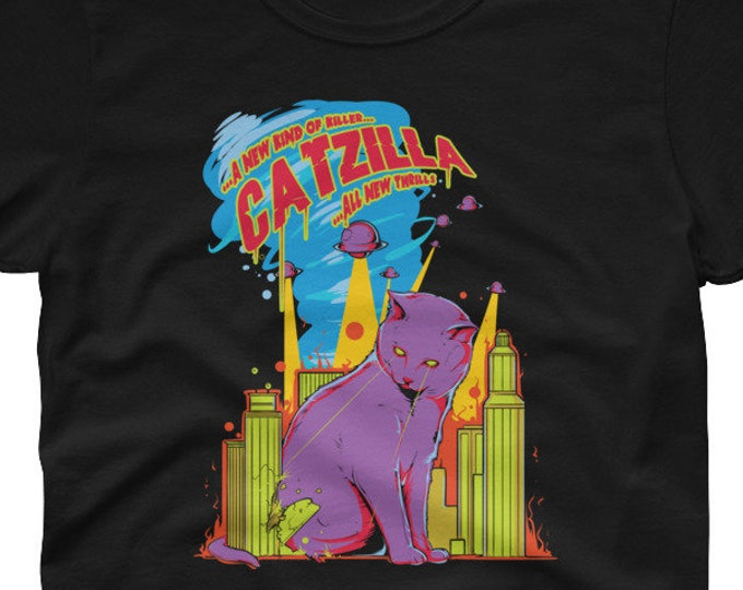 Catzilla Funny Women's t-shirt