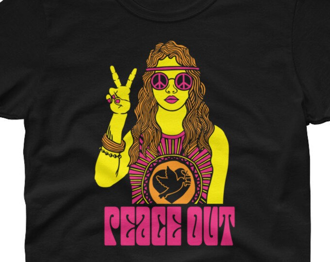 Peace Out Hippie Women's t-shirt