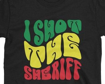 I Shot the Sheriff  - rasta t-shirt inspired by bob marley reggae song