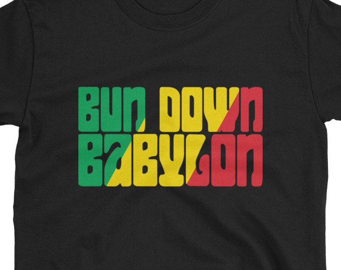 Bun Down Babylon - Rasta T-Shirt