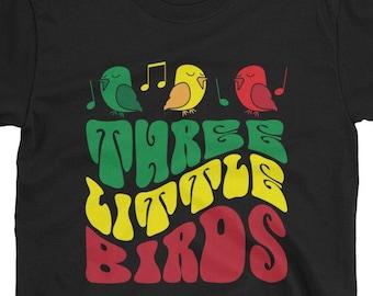 Three Little Birds - rasta t-shirt inspired by bob marley reggae song