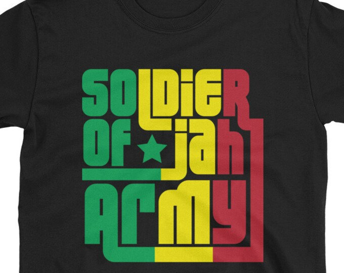 Soldier of Jah Army rasta t-shirt