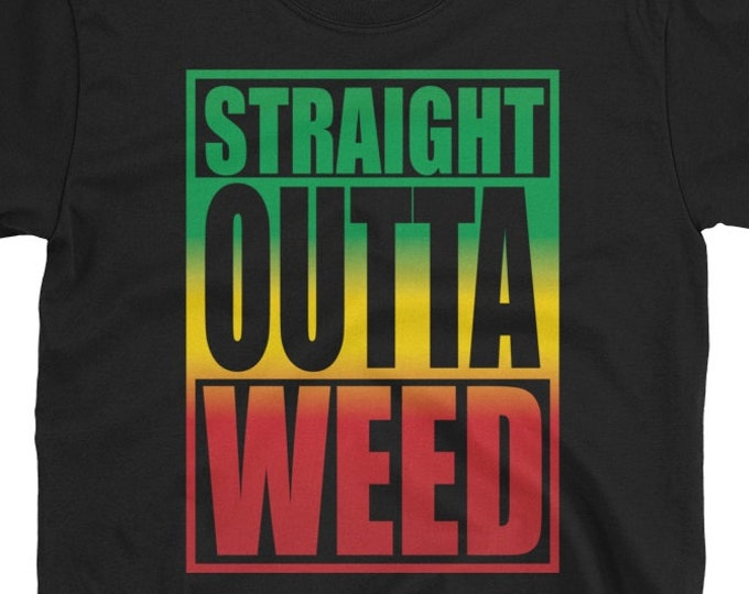 Straight Outta Weed - Rasta T-Shirt