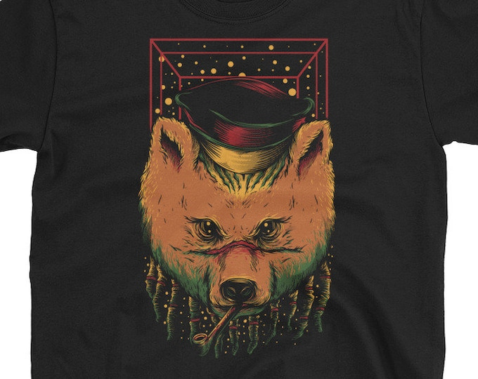 Rasta Smoking Bear T-Shirt