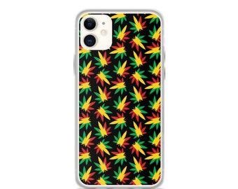 Rasta Weed Pattern - iPhone Case (Iphone 11, 11 pro, X, XR, XS)