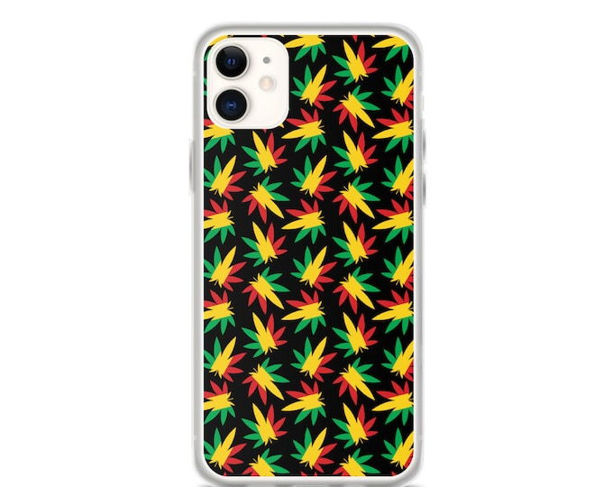 Rasta Weed Pattern - iPhone Case (Iphone 11, 11 pro, X, XR, XS)