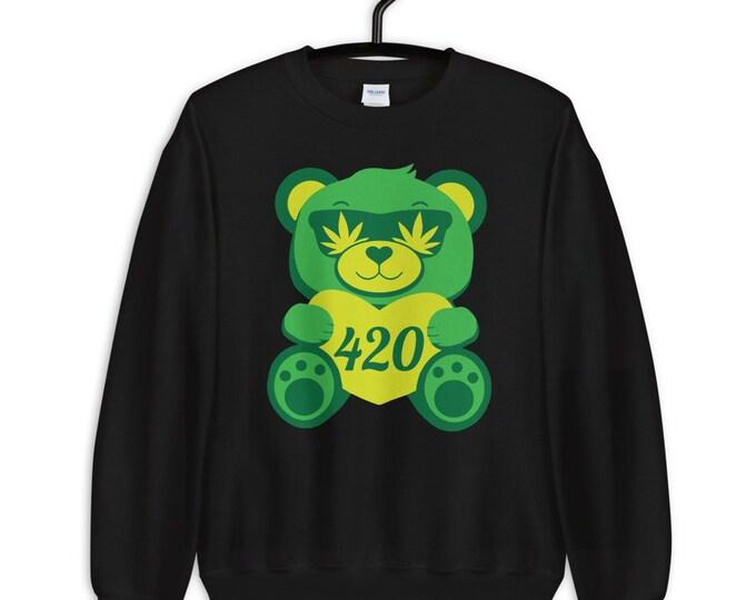 420 Teddy Bear - weed unisex sweatshirt